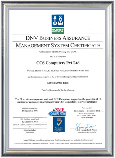 iso-20000-1-2011 Certificate